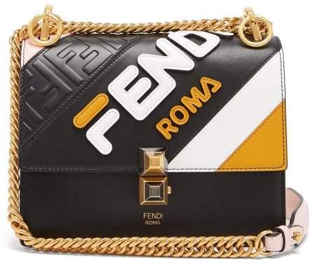 92c75f2512 Fendi Mania Kan I Small Leather Cross Body Bag - Womens - Black ...