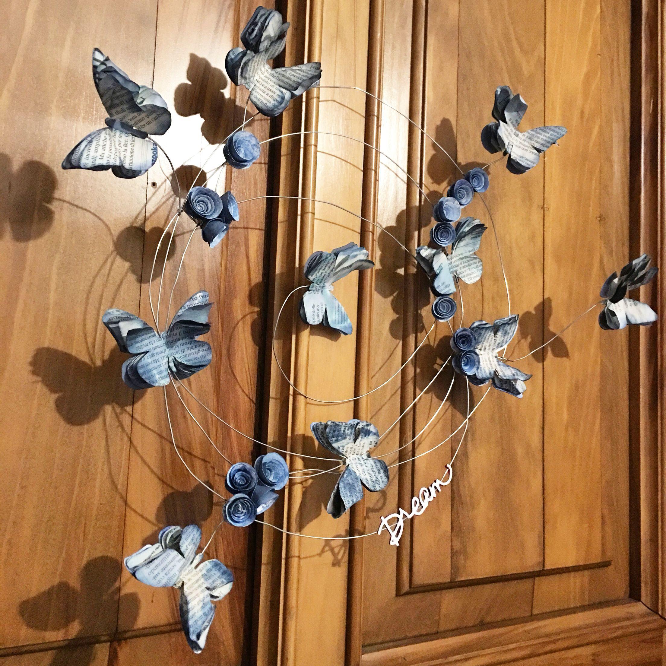 Farfalle Decorative Fai Da Te fiori e farfalle blu per il fuoriporta primaverile