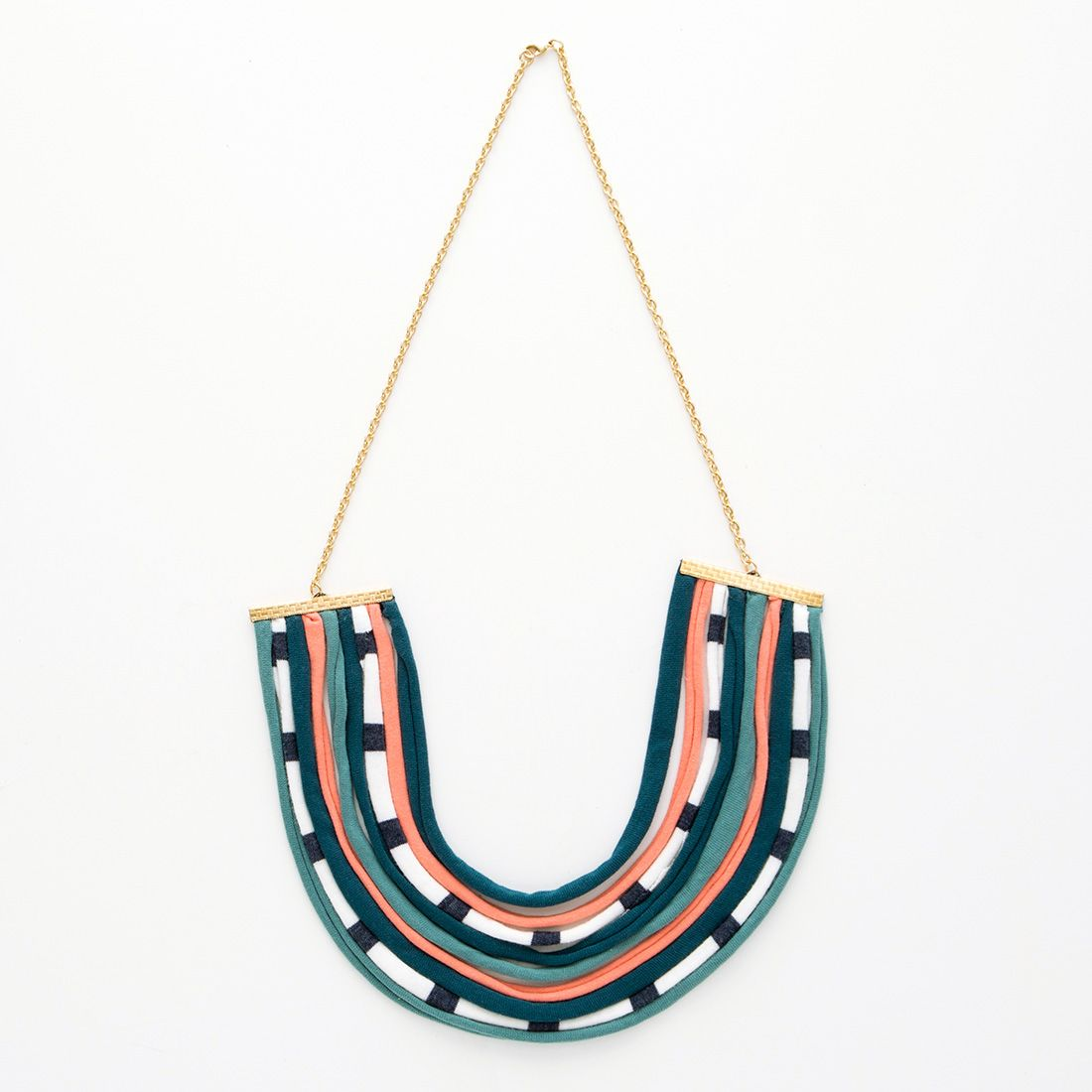 How to Turn Old T-Shirts into a Gorg Statement Necklace via Brit + Co.