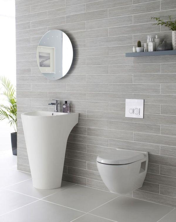 Elegante Stilvolle Graue Fliesen Im Badezimmer | Home | Pinterest ... Graue Badezimmer