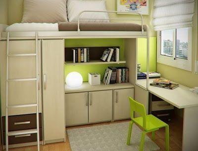 Dormitorio Juvenil Pequeno Kids Room Pinterest Dormitorios - Dormitorio-juvenil-pequeo