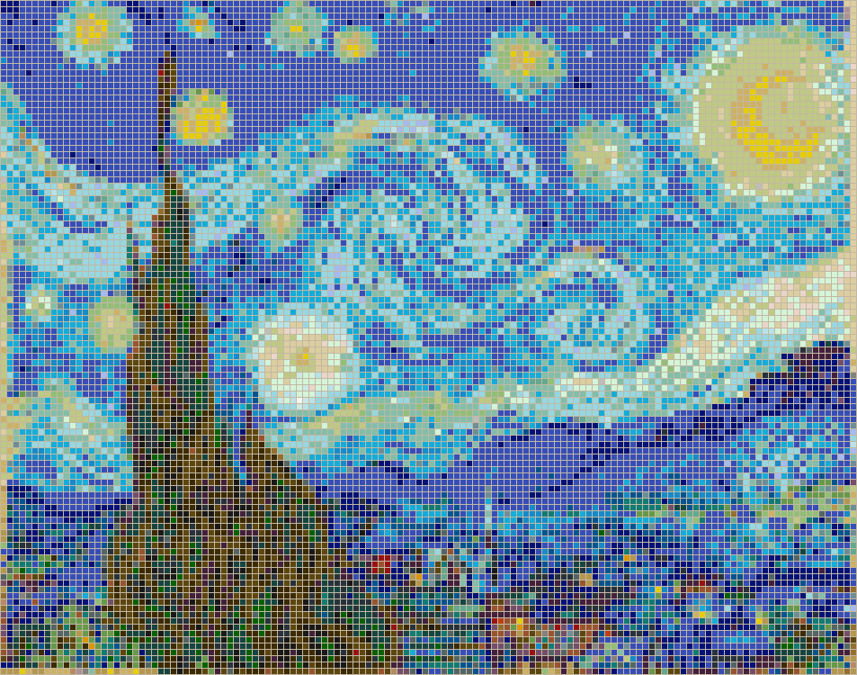 Mosaic art patterns starry night van gogh mosaic for Mosaic patterns online