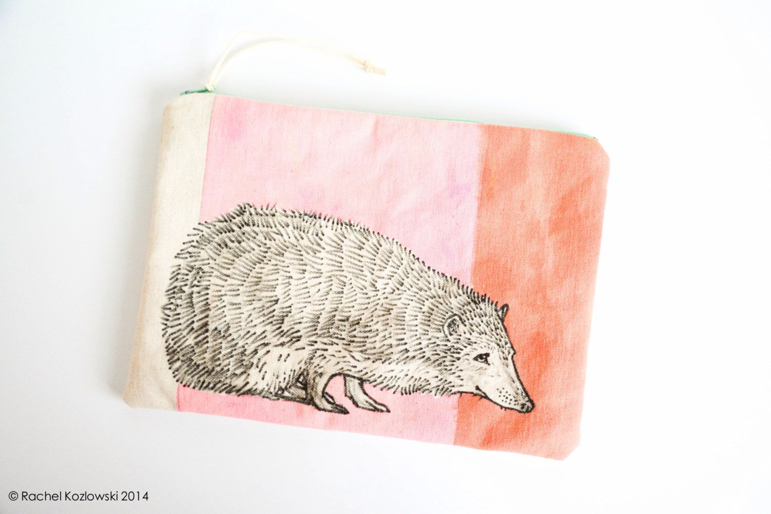 One-of-a-kind Hand Painted Hedgehog Clutch by RKArtwork on Etsy https://www.etsy.com/listing/244325576/one-of-a-kind-hand-painted-hedgehog
