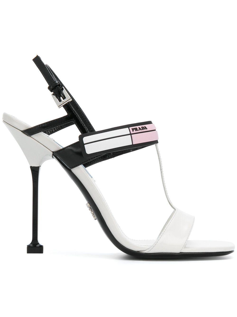 Prada Sporty Logo Sandals | ModeSens