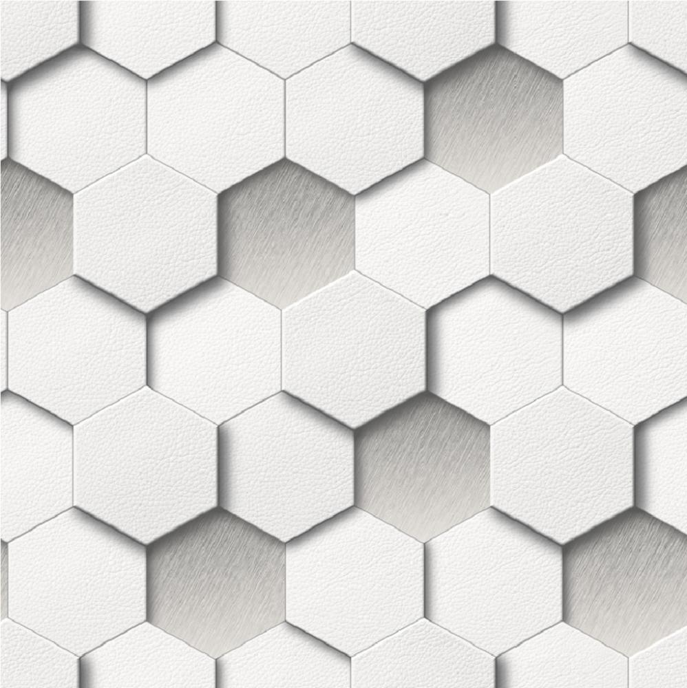 new luxury muriva kinetic honeycomb hexagon faux leather geometric  - new luxury muriva kinetic honeycomb hexagon faux leather geometric wallpaper ebay