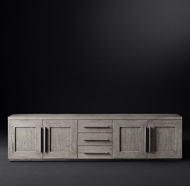 Machinto Panel 4-Door Media Console with Drawers