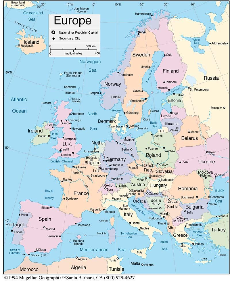 Mapa Europa Places Pinterest: Latest Map Of Europe At Infoasik.co
