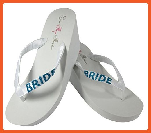 4aab7724f Customizable Bridal Flip Flops in Ivory or White