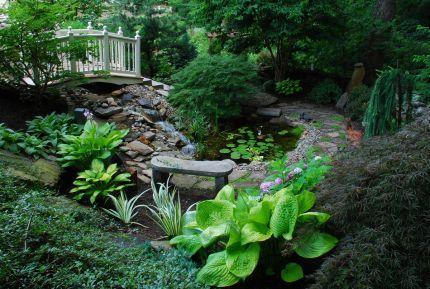 Bob's slope-side garden in Connecticut--click through to see more photos of this garden!