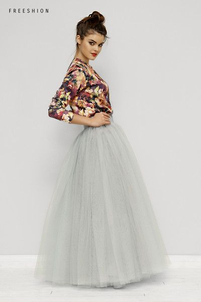 Geraldinemaxi Stonegrey M Spodnica Tiulowa Freeshion Spodnice High Waisted Skirt Fashion Skirts
