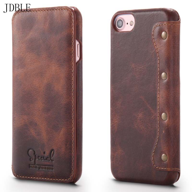 Click Image To Buy Real Genuine Leather Flip Case For