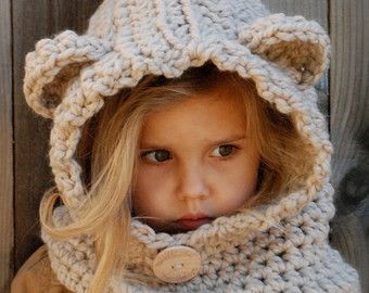 Knitting Pattern The Tuft Hooded Scarf 1218 Months Toddler Child