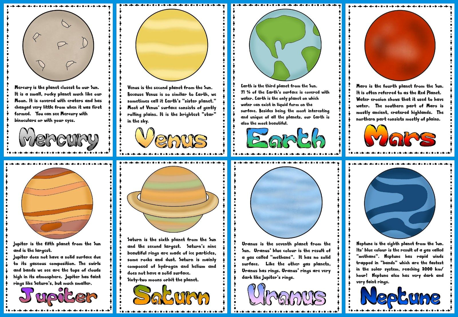 planets and their moons worksheets - photo #38