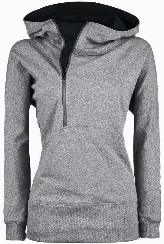 c7b1c523be70 Comfy Grey Side Zip Hoodie--my kind of hoodie...Would love to see in some  colors