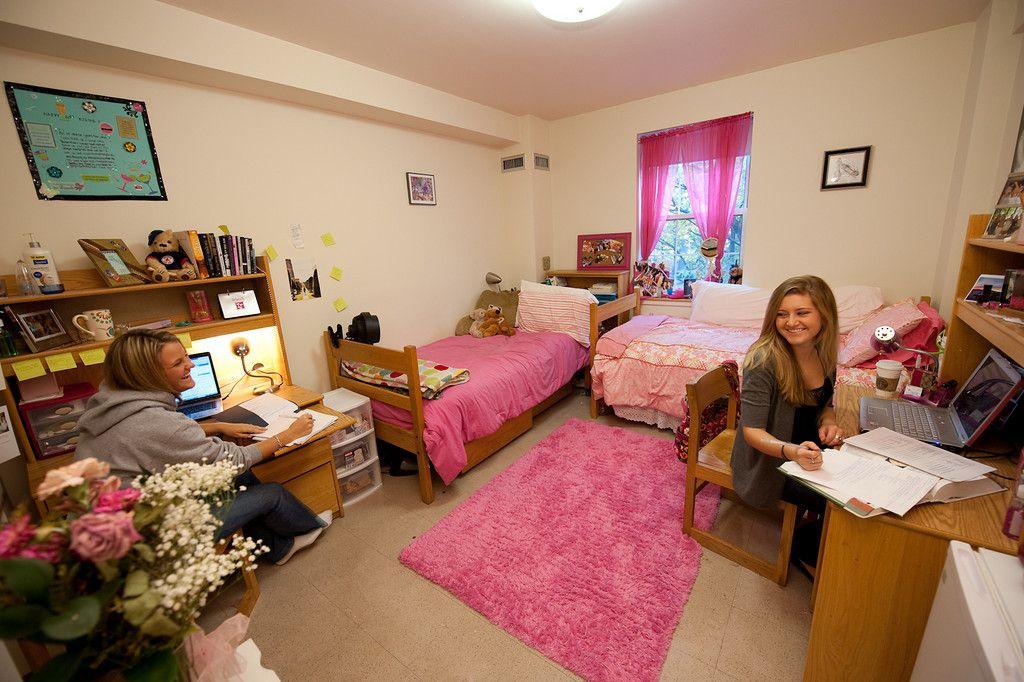 In dorm room 1