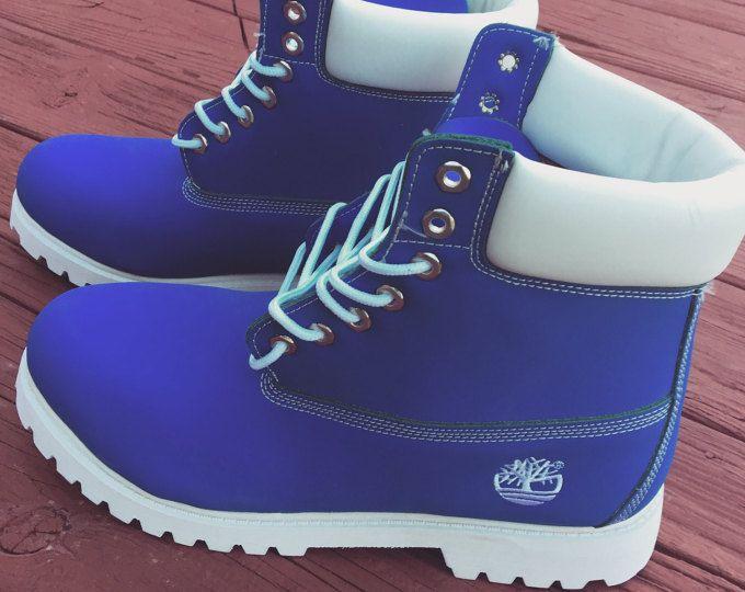 Custom TimberlandsTimberlandsShoes White Custom Blue And c3LAqS4Rj5