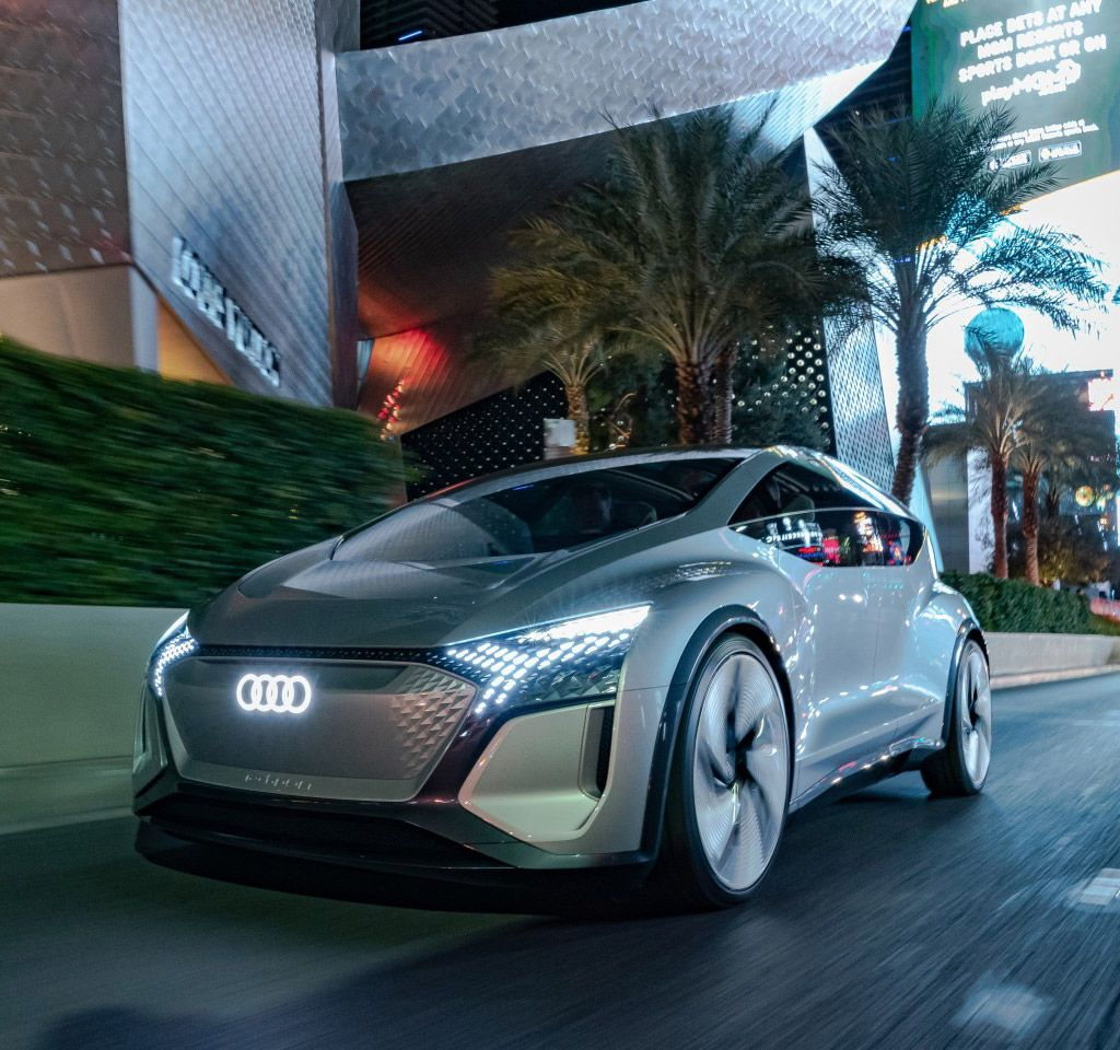 Futuristic Audi AIME Concept Hits CES 2020 with Mixed
