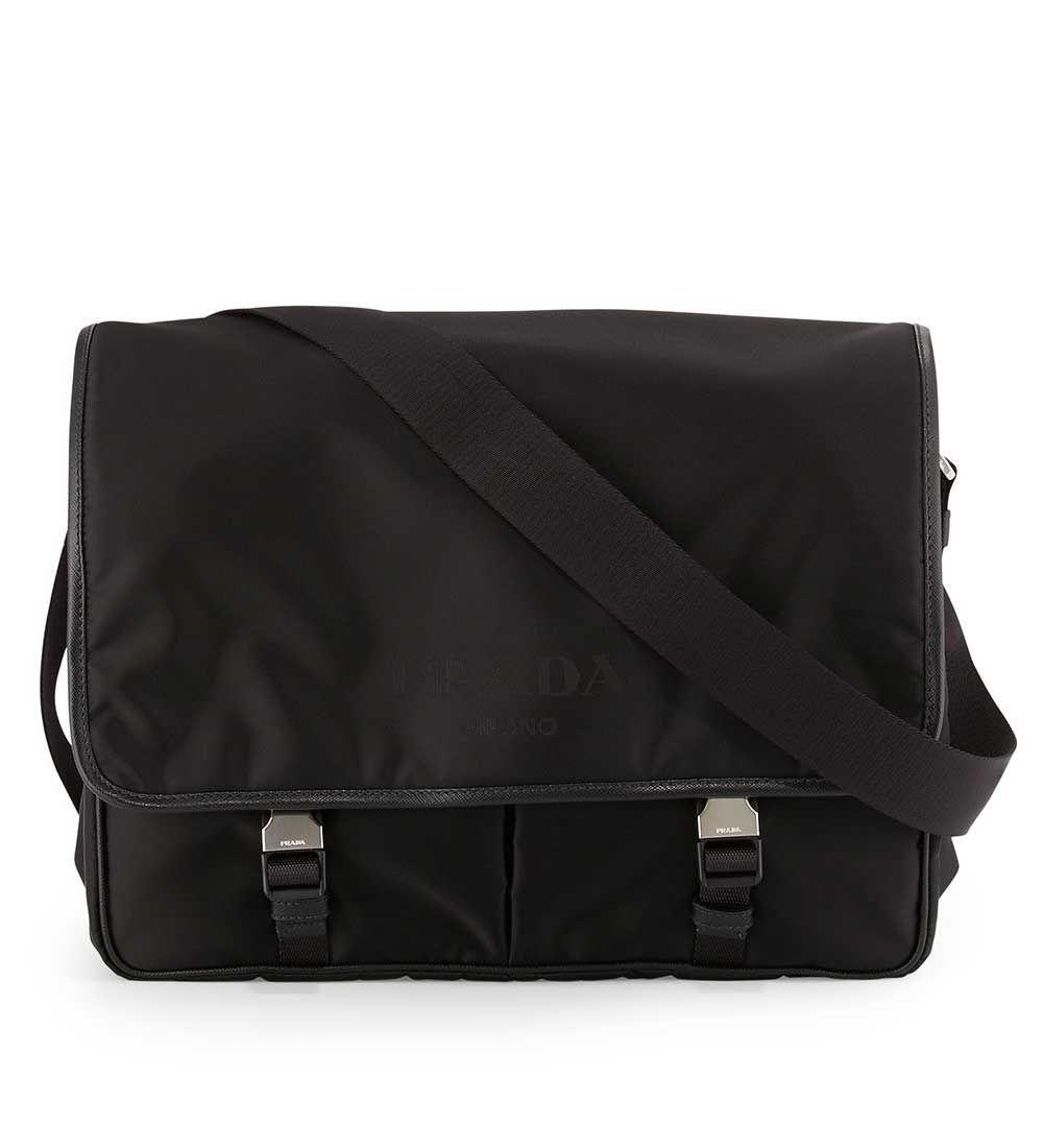 0e854e604540 Prada Large Nylon Messenger Bag Black  225.00 Messenger Bag Men