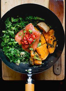 Coconut Salmon with Kale