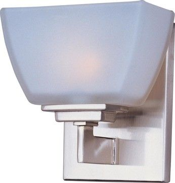Maxim Angle Bath Vanity Satin Nickel   Modern   Bathroom Lighting And  Vanity Lighting   Other Metro   Lighting And Locks