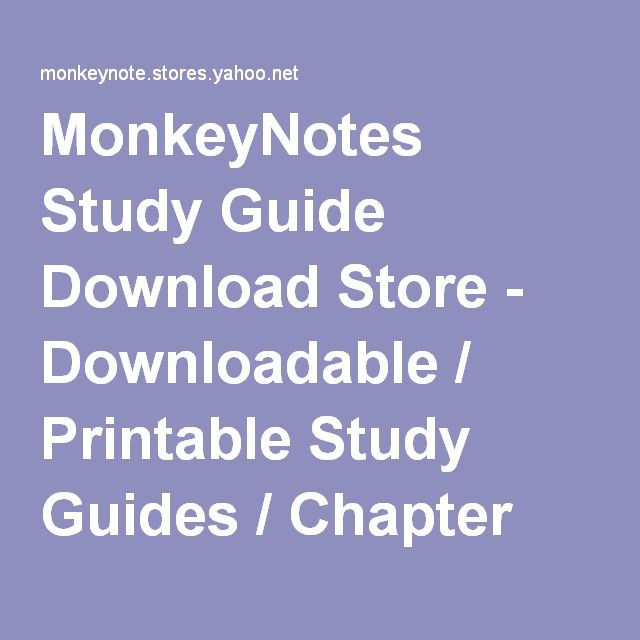 MonkeyNotes Study Guide Download Store - Downloadable / Printable