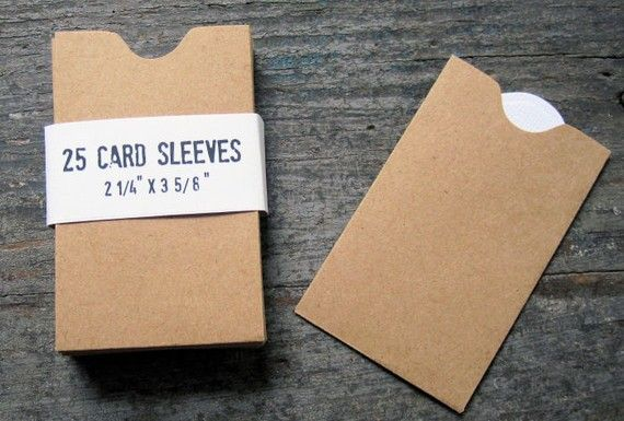 Business Card Sleeves