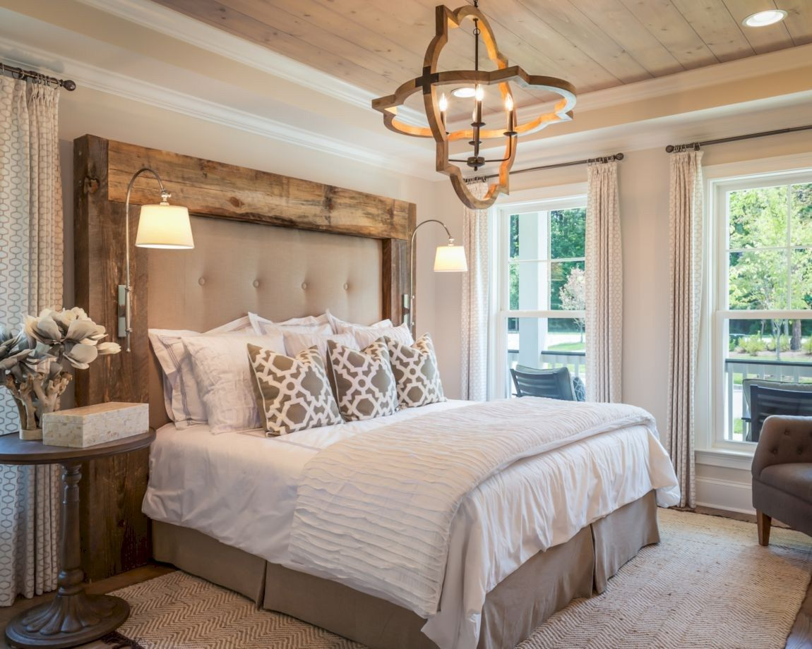 Outstanding farmhouse master bedroom design (3) | Rustic ...