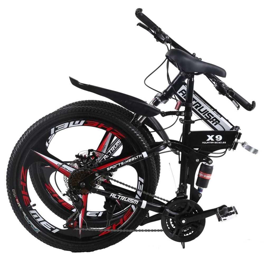 81e41853970 ALTRUISM X9 Pro Steel 21 Speed 26 Inch Folding Bike For Boys Girls Dual  Disc Brakes