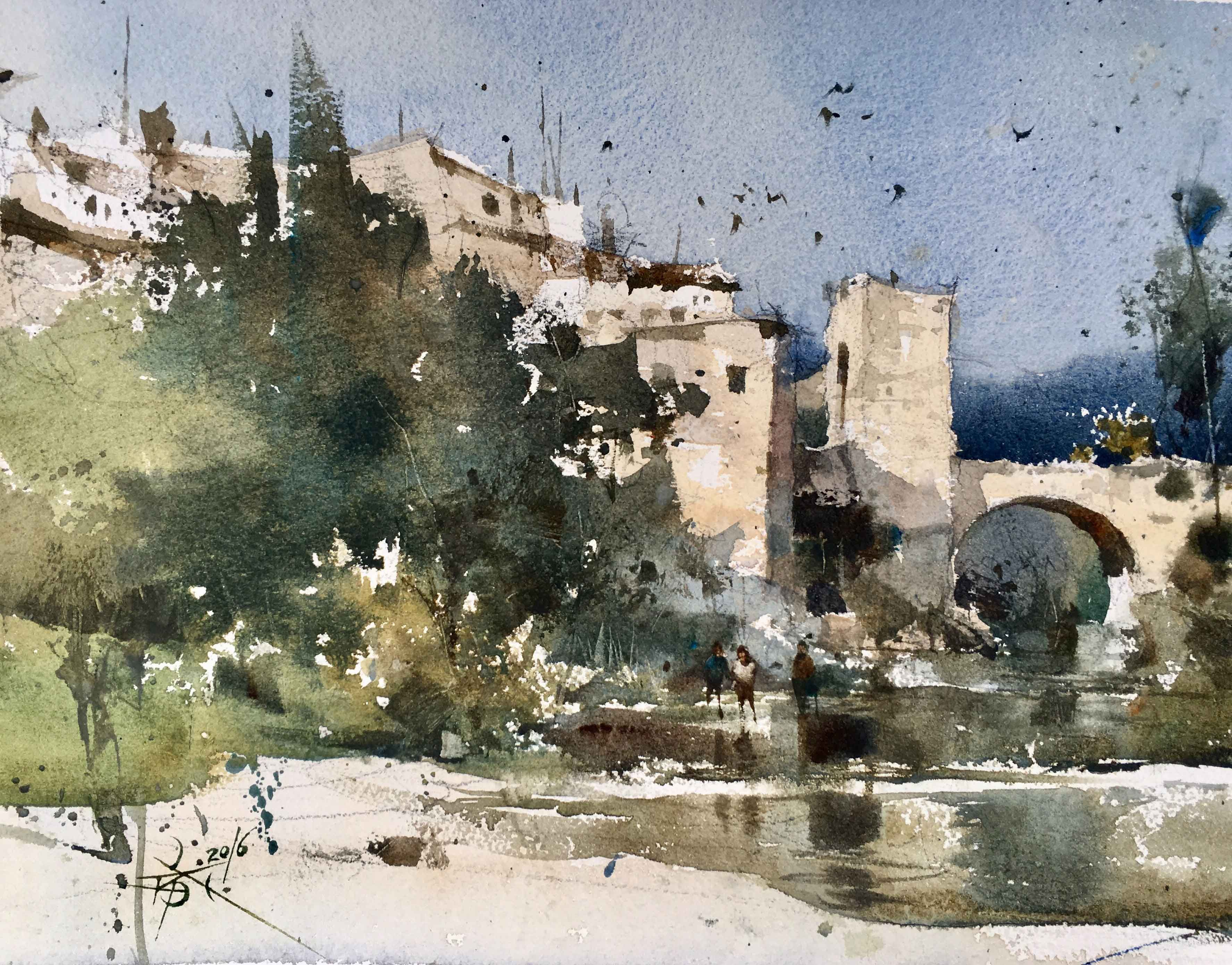 Pin By Glenn Workshops On Chien Chung Wei Watercolor Landscape Paintings Watercolor Architecture Watercolor Landscape