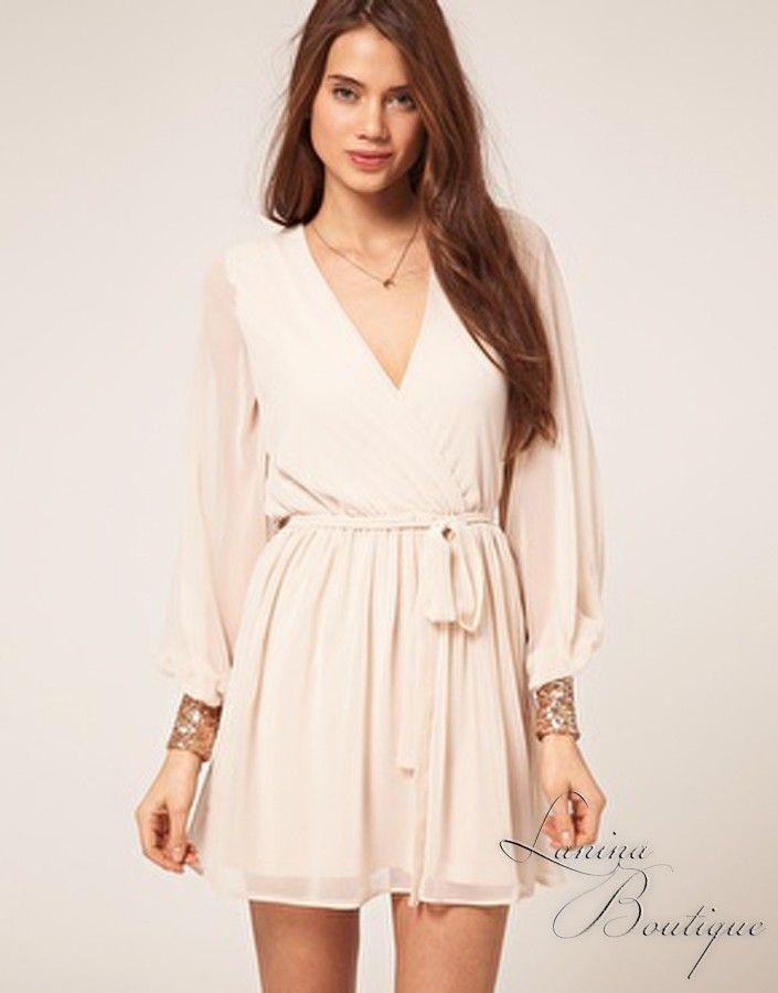 Ivory Wrap Dresses