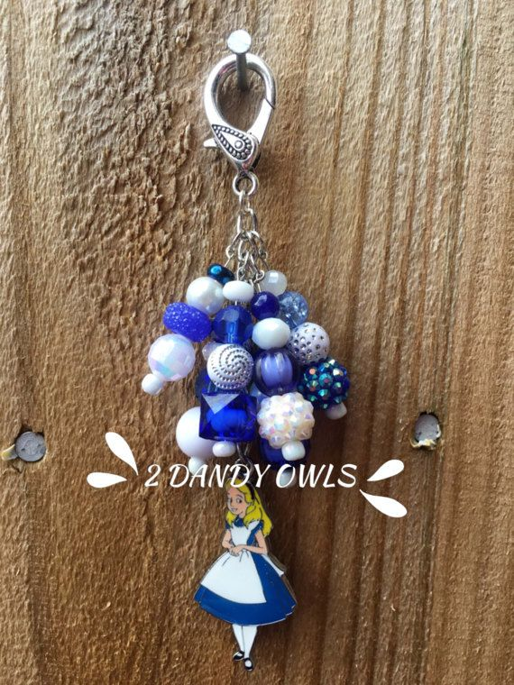 Alice from Alice in Wonderland Purse Charm by 2DandyOwls on Etsy