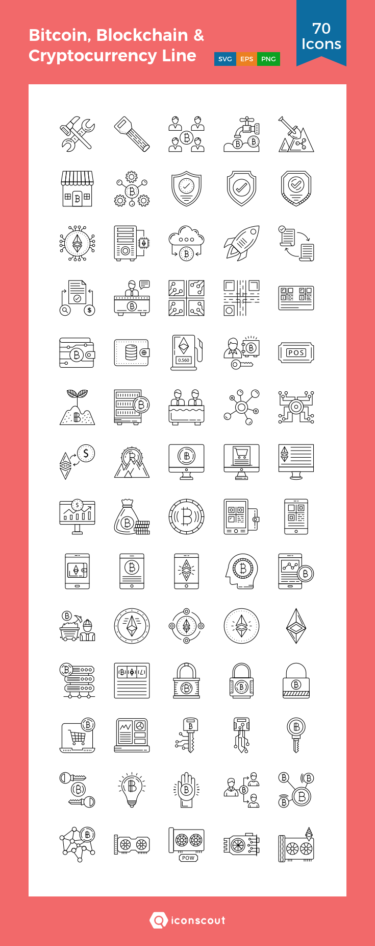 Download Bitcoin Blockchain Cryptocurrency Line Icon Pack Available In Svg Png Eps Ai Icon Fonts Blockchain Cryptocurrency Cryptocurrency Blockchain