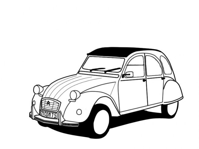 Cheval Voiture Coloriage.Epingle Par Melodie Rsm Sur Idees Terre Cuites 2cv Citroen