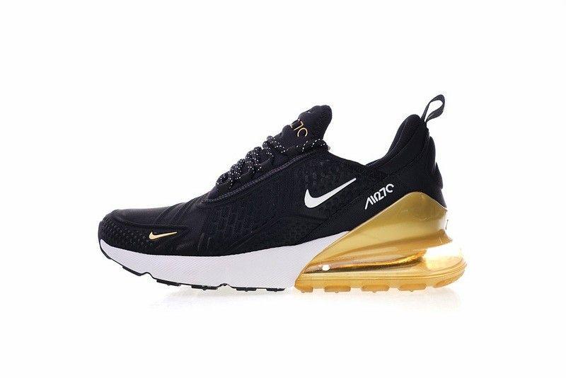 énorme réduction bb179 2c847 Nike Air Max 270 Deep noir blanc Gold AH8060 010   Shoes ...