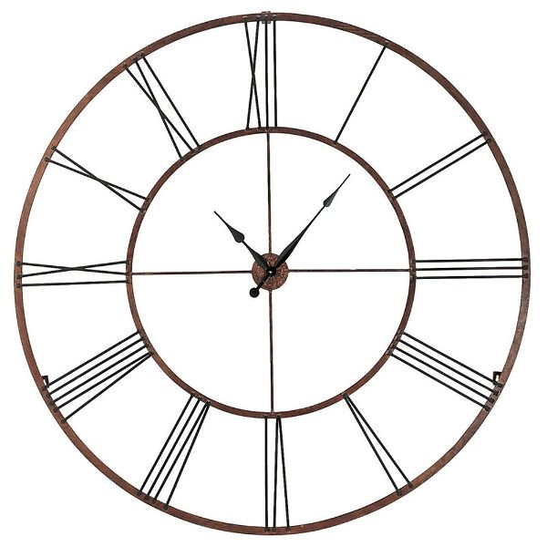 Large Modern Wall Clock With Roman Numerals 50 Inch Oversized Wall Clock Wall Clock Extra Large Wall Clock