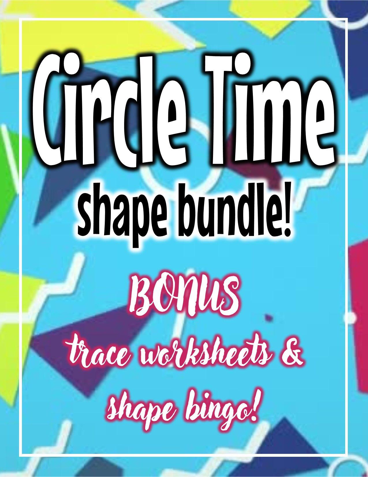 Preschool Circle Time Shape Posters With Bonus Worksheets