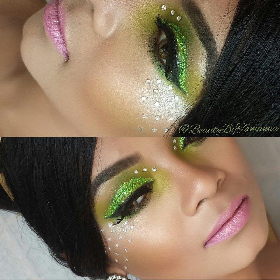 Halloween Tinkerbell Inspired Makeup Disney Inspired Makeup Makeup Inspiration Disney Makeup