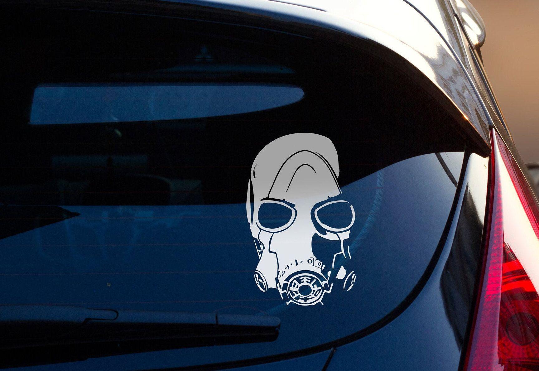 Borderlands Decal Psycho Mask Decal Sticker Borderlands Etsy Borderlands Nerdy Gifts Car Decals Vinyl [ 1190 x 1729 Pixel ]