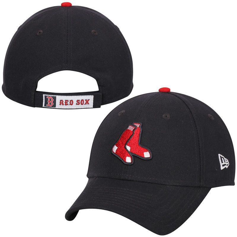 a0d9bf734f4 Boston Red Sox New Era League Logo 9FORTY Adjustable Hat - Navy ...