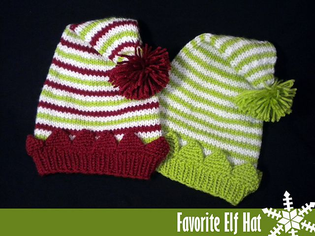 08e9c2774b8 Ravelry  Favorite Elf Hat pattern by Janet Jameson Includes every size from  Newborn to Adult!