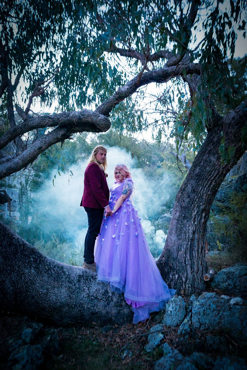 Pastel Goth Unicorn Wedding For 1500 Purple Floral Dress: Pastel Goth Wedding Dresses At Reisefeber.org