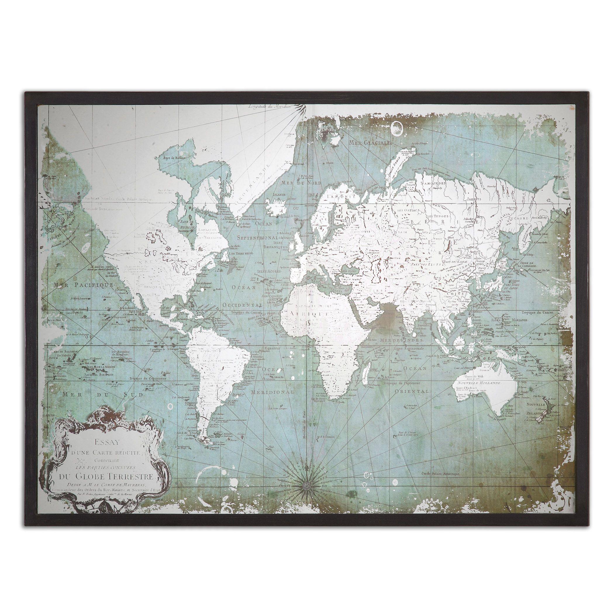 World Map Framed Artwork | Map frame, Framed artwork and Walls