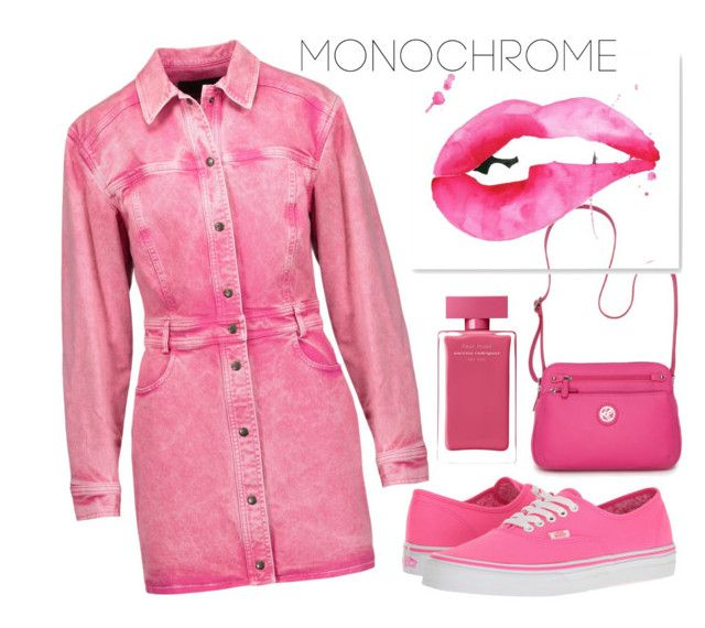 """""""Pinkish"""" by shenydelia-1 ❤ liked on Polyvore featuring Roberto Cavalli, Vans, Kim Rogers and Narciso Rodriguez"""