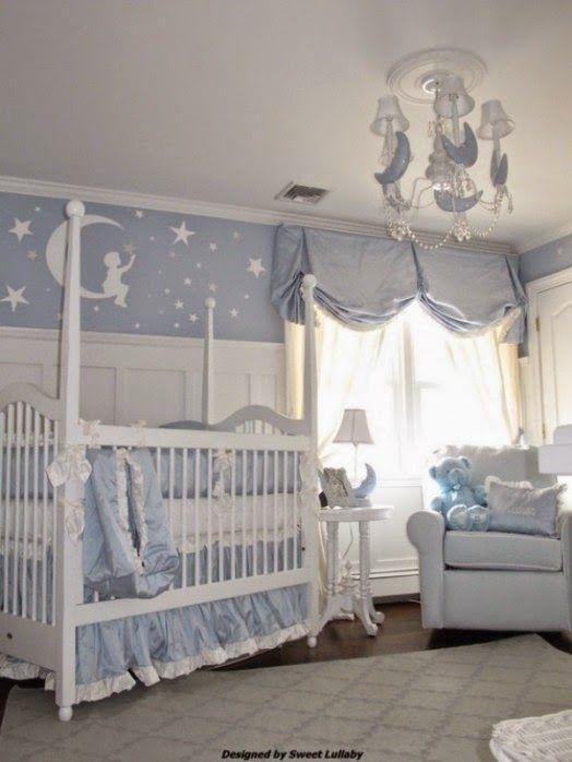 Dormitorio para bebes con estrellas decoracion cuarto - Dormitorio para bebes ...