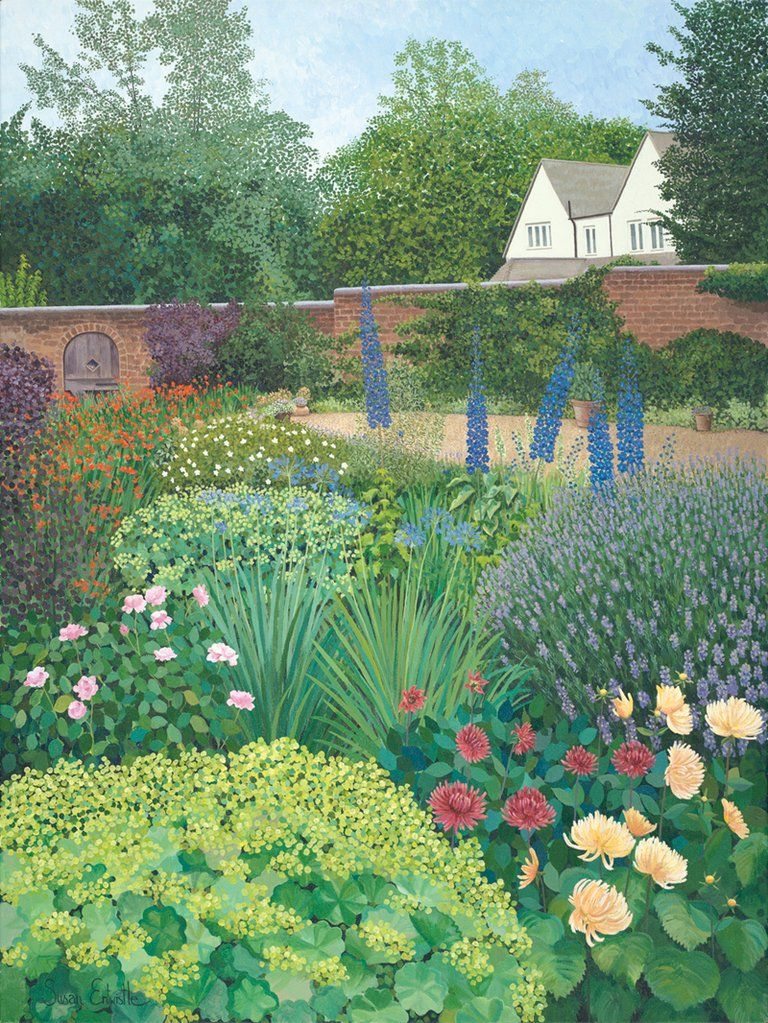 Garden Commissions Painted by Susan Entwistle Art Garden