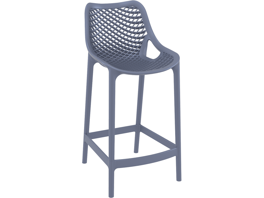 Riley Injection Mould Outdoor Counter Stool 65cm In Charcoal