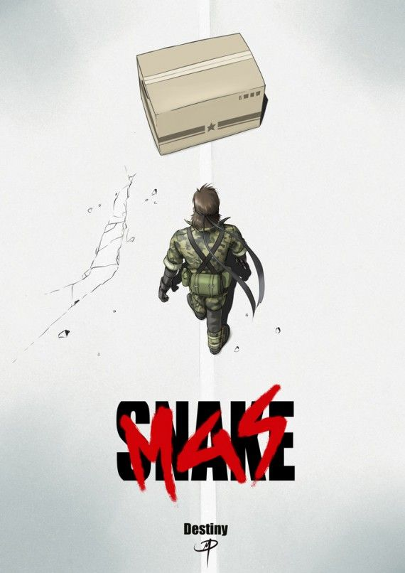 Parodie affiche Akira Metal Gear Solid 3 Snake Eater #MetalGearSolid3 #NakedSnake #SnakeEater #MGS3SnakeEater #MGS3 #BigBoss