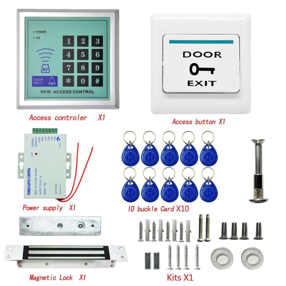 125Khz Rfid Id Keyfobs One Door Access Control Machine Kit