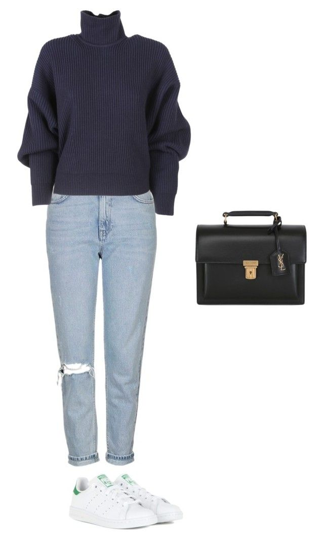 """""""missing the winter"""" by abbbyyyy ❤ liked on Polyvore featuring Topshop, Balenciaga, Yves Saint Laurent and adidas"""
