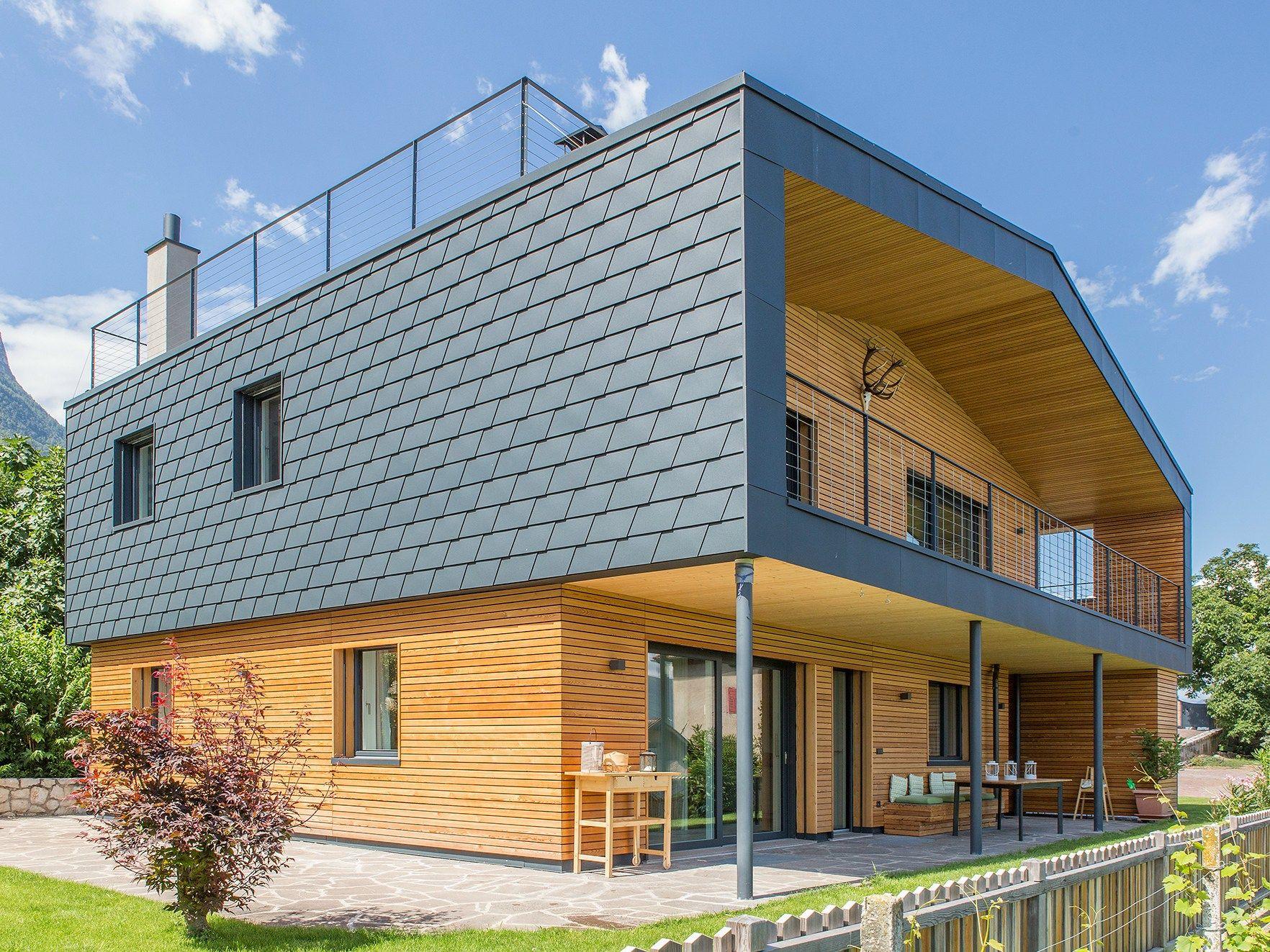 Scandola In Alluminio By Prefa Italia House Cladding Cladding Stucco Homes
